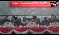 Agung Sampaikan LKPJ Bupati 2016
