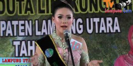 Arifa Siswi SMAN 3 Kotabumi Duta Lingkungan Hidup Lampura 2017